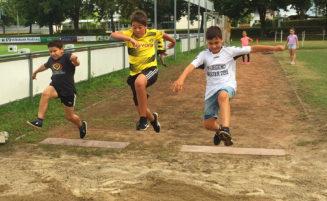 Spaß und Freude bei der Ferienspielaktion der Leichtathleten