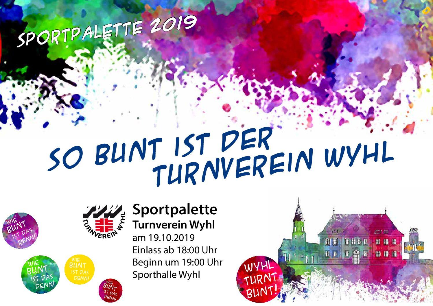 Einladung zur Sportpalette am 19.10.2019